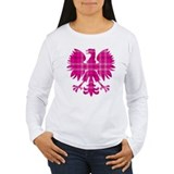 Pink Plaid Polish Eagle T-Shirt