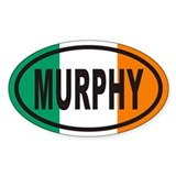 MURPHY Irish Flag Euro Oval  Aufkleber