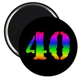 "Rainbow 40 2.25"" Magnet (100 pack)"