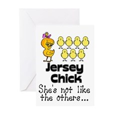 Jersey Chick Greeting Card
