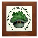 Shamrocks (Gaelic) Framed Tile
