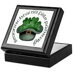 Shamrocks (Gaelic) Keepsake Box