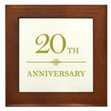 Stylish 20th Anniversary Framed Tile