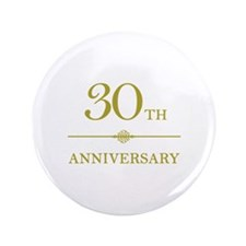 "Stylish 30th Anniversary 3.5"" Button (100 pack)"