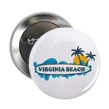 "Virginia Beach - Surf Design 2.25"" Button"