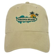 Virginia Beach - Surf Design Baseball Cap
