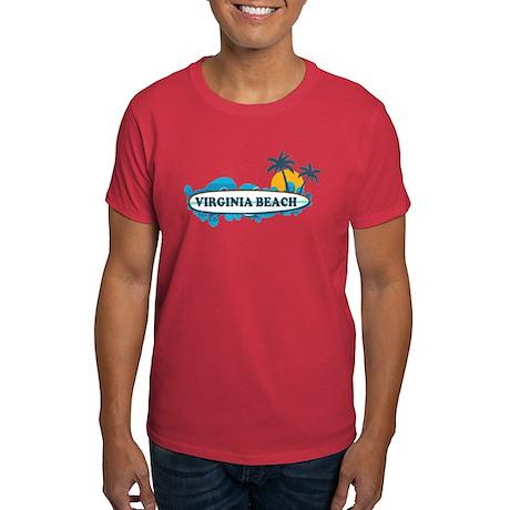 Virginia Beach - Surf Design Dark T-Shirt