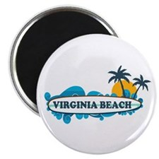 Virginia Beach - Surf Design Magnet