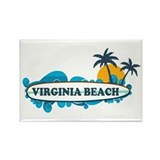 Virginia Beach - Surf Design Rectangle Magnet