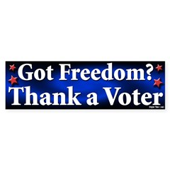 Got Freedom Thank a Voter Sticker
