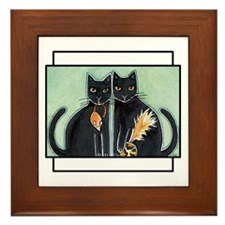 Funny Cat Framed Tile