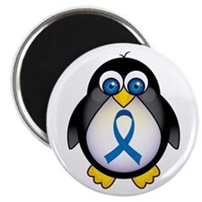 Penguin Blue Ribbon Awareness Magnet