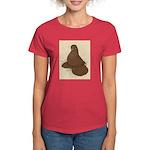 Muffed Tumbler Pigeon Women's Dark T-Shirt