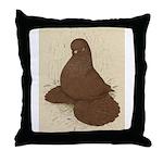Muffed Tumbler Pigeon Throw Pillow