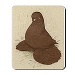 Muffed Tumbler Pigeon Mousepad