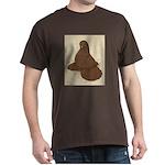 Muffed Tumbler Pigeon Dark T-Shirt