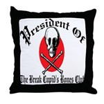 Anti-Valentine Club Throw Pillow