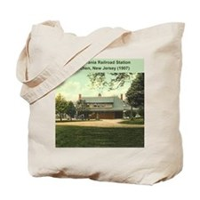 Metuchen Train Station in 1907 Tote Bag