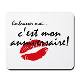 French Kiss Me Birthday Mousepad