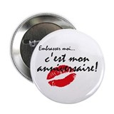 French Kiss Me Birthday 2.25&quot; Button