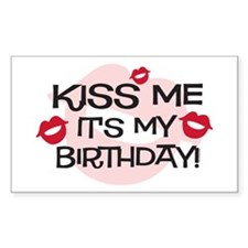 Smooches Kiss Me Birthday Decal