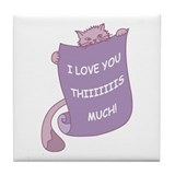 Cat Love Tile Coaster