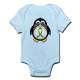Penguin Green Ribbon Awareness Onesie