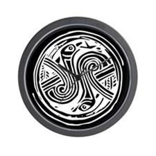 Celtic Birds Wall Clock