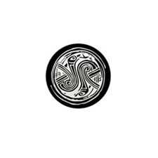 Celtic Birds Mini Button