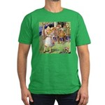 MAD HATTER'S TEA PARTY Men's Fitted T-Shirt (dark)