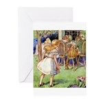 MAD HATTER'S TEA PARTY Greeting Cards (Pk of 10)