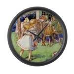 MAD HATTER'S TEA PARTY Large Wall Clock