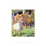 MAD HATTER'S TEA PARTY Sticker (Rectangle 50 pk)