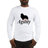 """Shelties Love Agility"" Long Sleeve Tee"