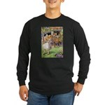MAD HATTER'S TEA PARTY Long Sleeve Dark T-Shirt