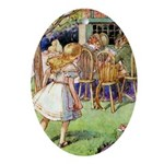 MAD HATTER'S TEA PARTY Ornament (Oval)