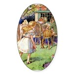 MAD HATTER'S TEA PARTY Sticker (Oval)