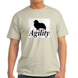"""Shelties Love Agility"" Ash Grey Tee"