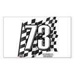 Flag No. 73 Sticker (Rectangle)