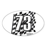 Flag No. 73 Sticker (Oval 10 pk)