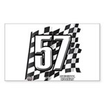 Flag No. 57 Sticker (Rectangle)