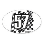 Flag No. 57 Sticker (Oval 10 pk)