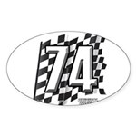 Flag No. 74 Sticker (Oval 10 pk)