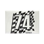 Flag No. 74 Rectangle Magnet (10 pack)
