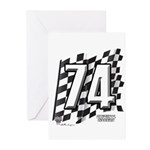 Flag No. 74 Greeting Cards (Pk of 10)
