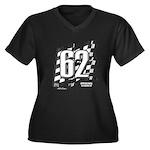 Flag No. 62 Women's Plus Size V-Neck Dark T-Shirt