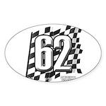 Flag No. 62 Sticker (Oval)