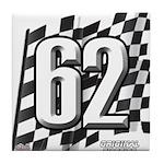 Flag No. 62 Tile Coaster