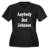 Anybody But Johnson Women's Plus Size V-Neck Dark
