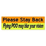Flying Poo horse trailer sticker (orange&yello